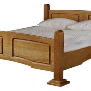 Kinga 180 rustikálna manželská posteľ drevo D3
