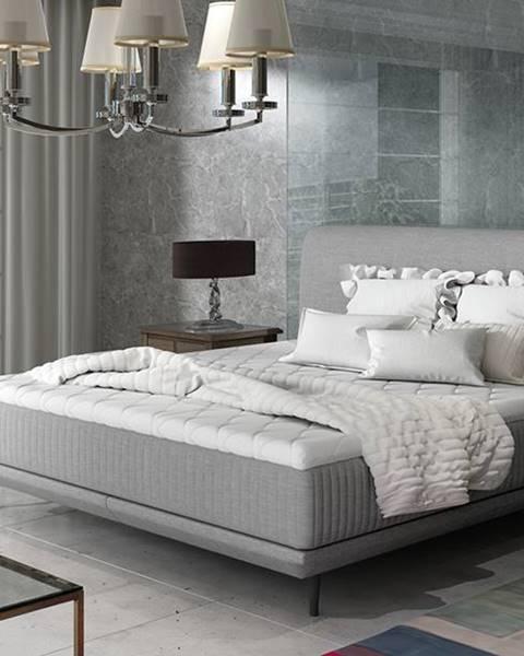 NABBI Ancona 180 čalúnená manželská posteľ svetlosivá (Cover 83)
