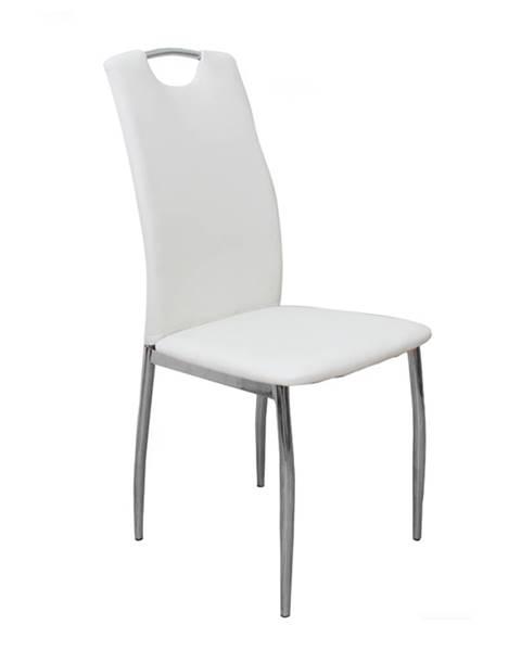 Kondela Ervina jedálenská stolička biela