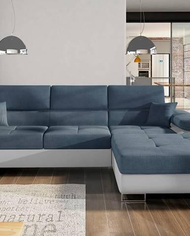 Alkazar P rohová sedačka s rozkladom a úložným priestorom modrá