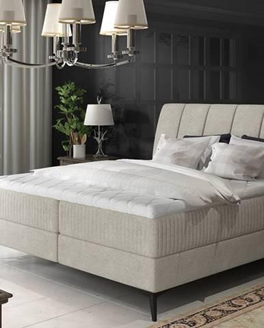 Altama 140 čalúnená manželská posteľ s úložným priestorom svetlosivá (Orinoco 21)
