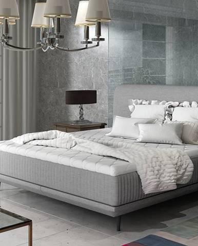 Ancona 180 čalúnená manželská posteľ svetlosivá (Cover 83)