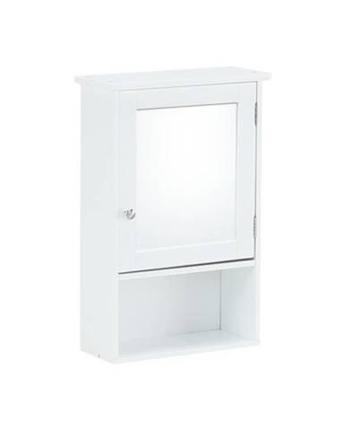 Atene Typ 2 kúpeľňová skrinka so zrkadlom biela