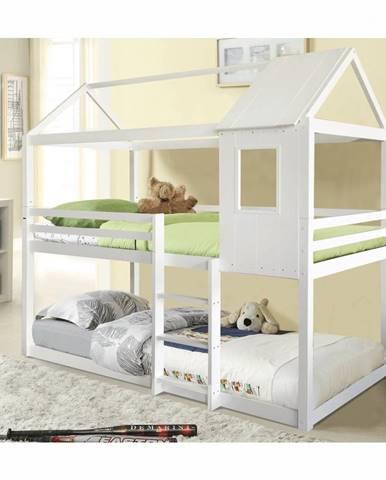 Atrisa poschodová posteľ s roštami biela