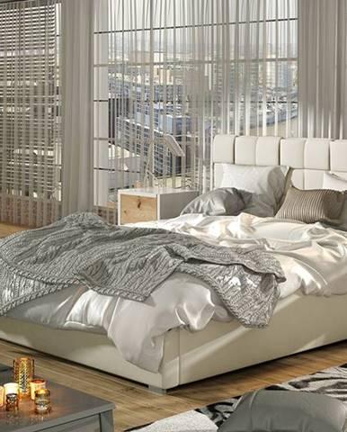 Galimo 200 čalúnená manželská posteľ s roštom béžová