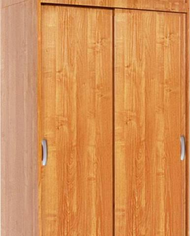 Irena 4D šatníková skriňa s posuvnými dverami jelša