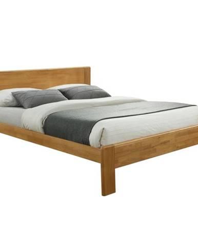 Kaboto 183 manželská posteľ s roštom dub