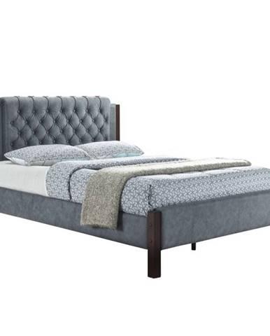 Karola New 160 čalúnená manželská posteľ s roštom sivá
