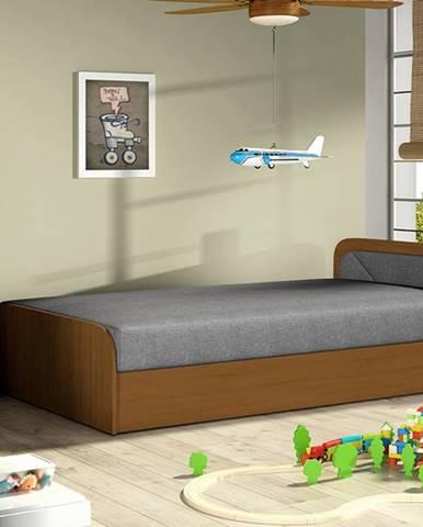 Pinerolo 80 P jednolôžková posteľ s úložným priestorom sivá