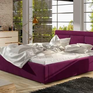 Branco UP 160 čalúnená manželská posteľ s roštom vínová