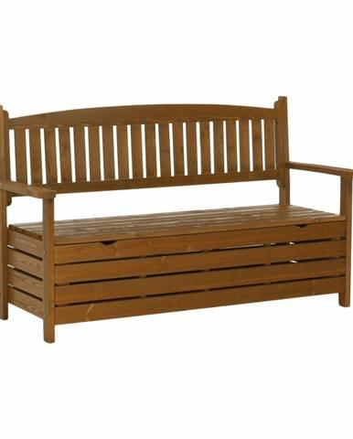 Amula záhradná lavička s úložným priestorom hnedá