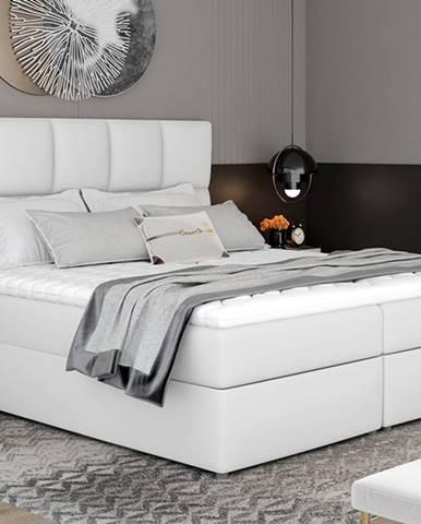 Grosio 185 čalúnená manželská posteľ s úložným priestorom biela
