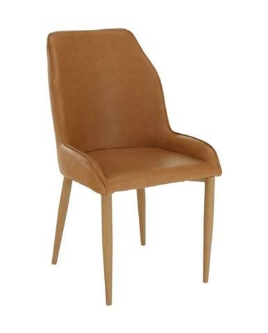 Imperia jedálenská stolička hnedá camel