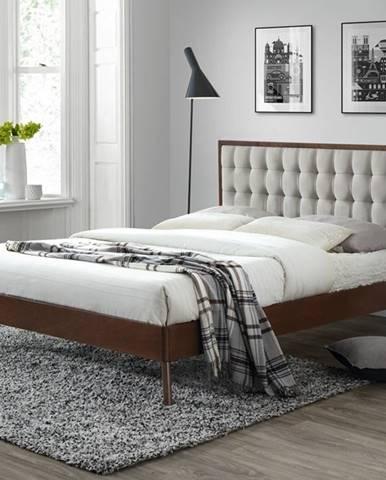 Solomo 160 manželská posteľ s roštom orech