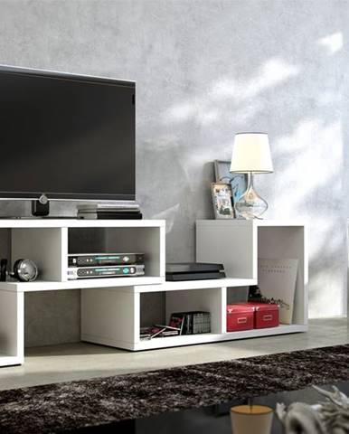 Top univerzálny tv stolík biela