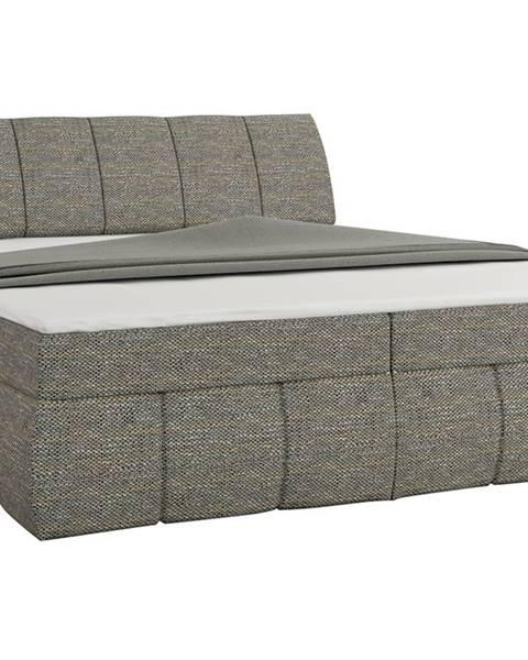 NABBI Vareso 160 čalúnená manželská posteľ s úložným priestorom sivá (Berlin 01)