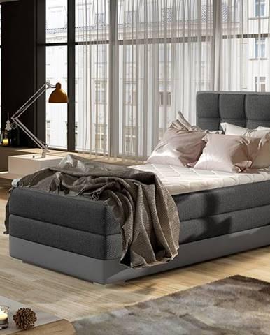Alessandra 90 P čalúnená jednolôžková posteľ tmavosivá