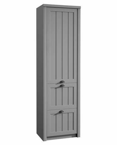 Provance S1D2S jednodverová šatníková skriňa sivá