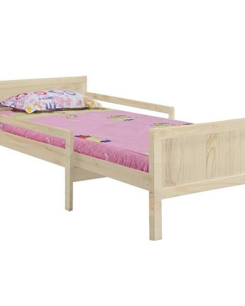 Kondela Eunika jednolôžková posteľ s nastaviteľnou dĺžkou prírodná