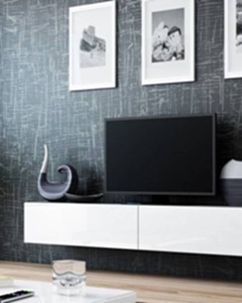 CAMA MEBLE Vigo 180 tv stolík na stenu sivá