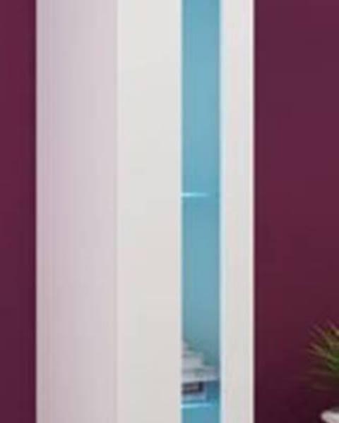 CAMA MEBLE Vigo New 180 vitrína na stenu biela