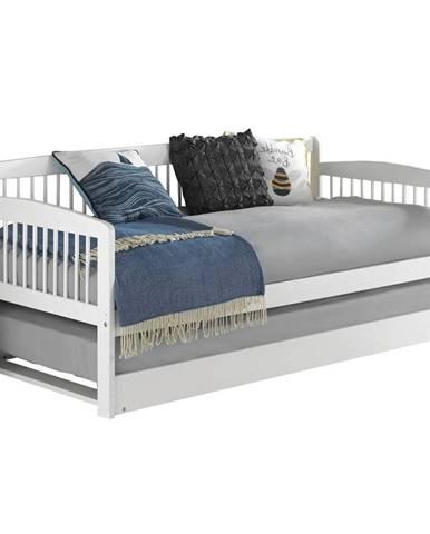 Pedreza jednolôžková posteľ (váľanda) s prístelkou biela