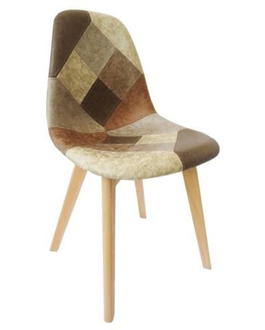 Saleva jedálenská stolička patchwork
