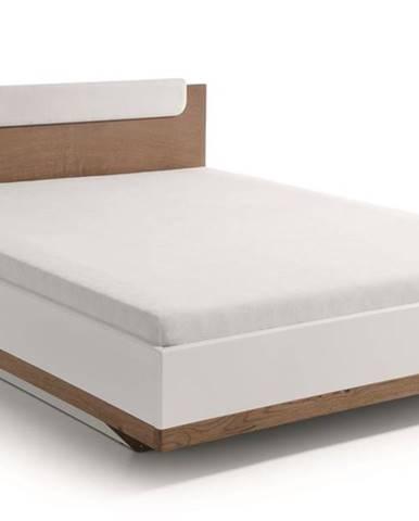 Como CM-1 160 manželská posteľ biely vysoký lesk