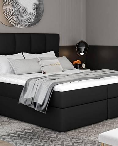 Grosio 165 čalúnená manželská posteľ s úložným priestorom čierna (Soft 11)