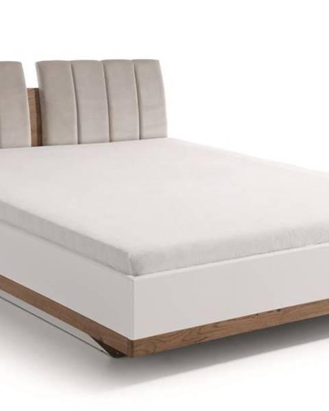 TARANKO Como CM-3 140 manželská posteľ biely vysoký lesk