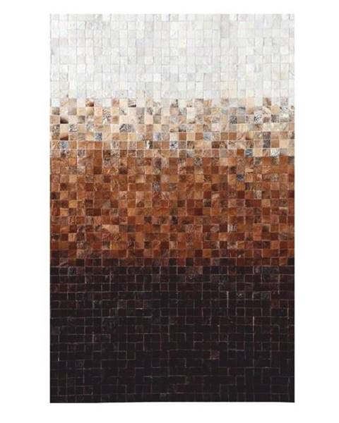 Tempo Kondela Typ 7 kožený koberec 140x200 cm vzor patchwork
