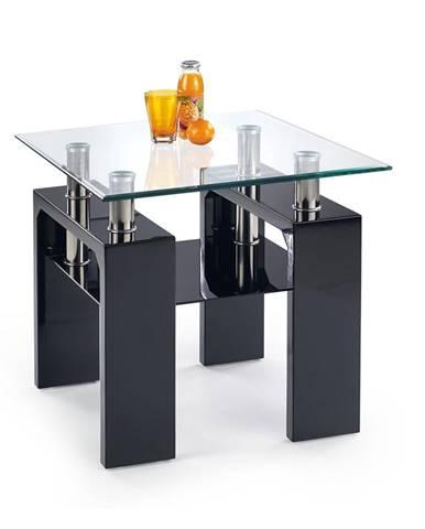 Diana H Kwadrat sklenený konferenčný stolík čierny lesk