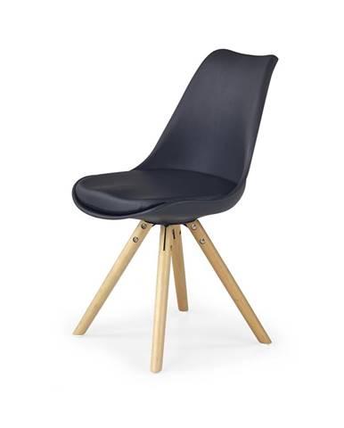 K201 jedálenská stolička čierna