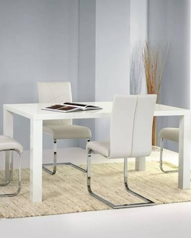 Ronald 120 jedálenský stôl biely lesk