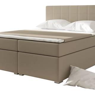 Anzia 180 čalúnená manželská posteľ s úložným priestorom béžová