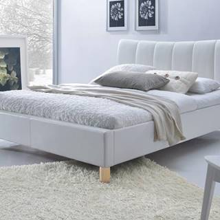 Sandy 160 čalúnená manželská posteľ s roštom biela