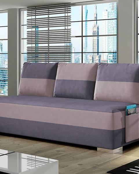 NABBI Adria rozkladacia pohovka s úložným priestorom fialová
