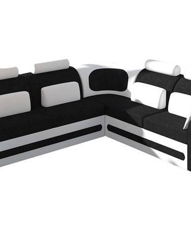 Bolzano P rohová sedačka s rozkladom a úložným priestorom čierna (Sawana 14)
