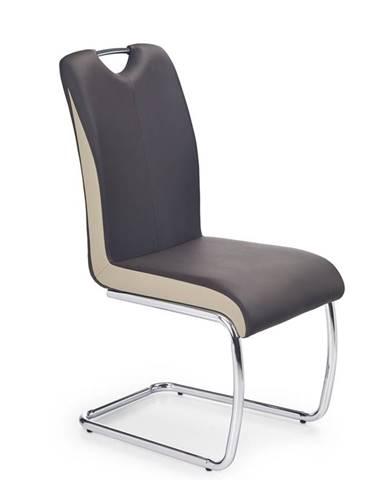 K184 jedálenská stolička tmavohnedá