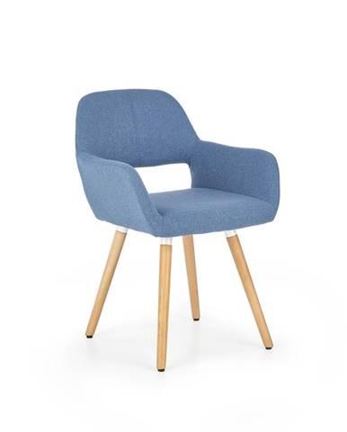 K283 jedálenská stolička modrá