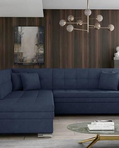Pescara L rohová sedačka s rozkladom modrá (Soro 76)