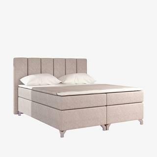 Barino 140 čalúnená manželská posteľ s úložným priestorom béžová (Dora 21)