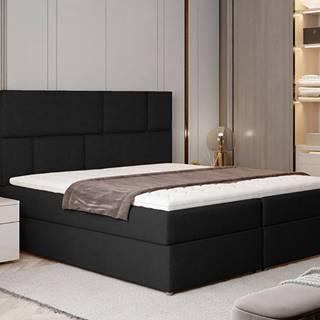 Ferine 165 čalúnená manželská posteľ s úložným priestorom čierna (Sawana 14)