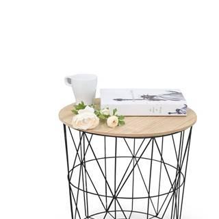 Mariffa okrúhly konferenčný stolík čierna