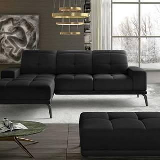 Tirreno L rohová sedačka čierna (Velvet Mat 99)