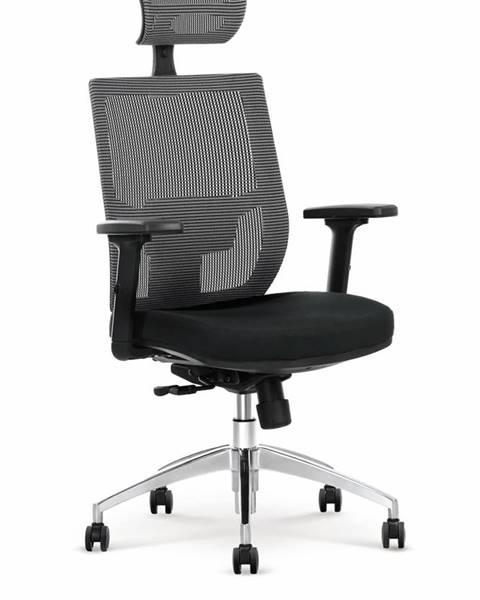 Halmar Admiral kancelárska stolička s podrúčkami čierna