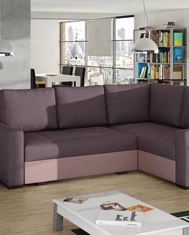 Castelo P rohová sedačka s rozkladom a úložným priestorom fialová