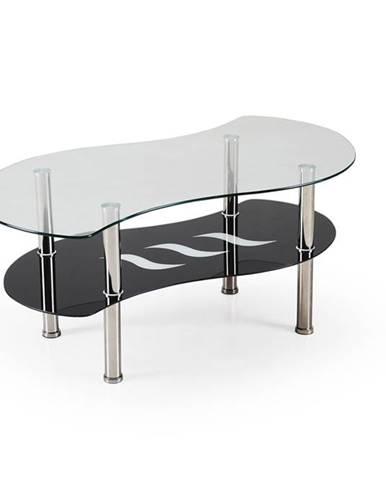 Catania sklenený konferenčný stolík priehľadná