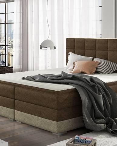 Dalino 140 čalúnená manželská posteľ s úložným priestorom tmavohnedá (Dora 26)