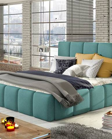 Evora 160 čalúnená manželská posteľ mentolová